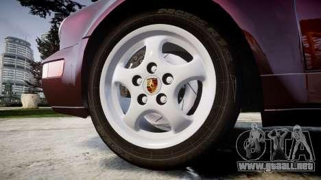 Porsche 911 (964) Targa para GTA 4 vista hacia atrás