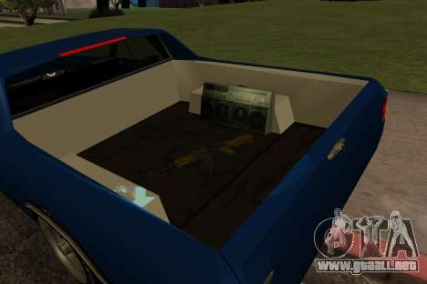 New picador para GTA San Andreas vista hacia atrás