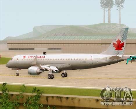 Embraer E-190 Air Canada para GTA San Andreas vista hacia atrás