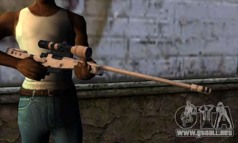 L11A3 Sniper Rifle para GTA San Andreas tercera pantalla