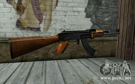 Retextured AK47 para GTA San Andreas segunda pantalla