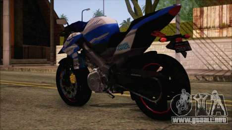 Yamaha V-Ixion GP Series para GTA San Andreas left