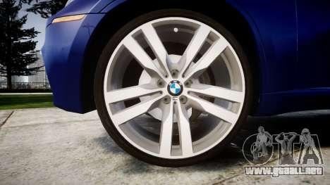 BMW X6M rims1 para GTA 4 vista hacia atrás