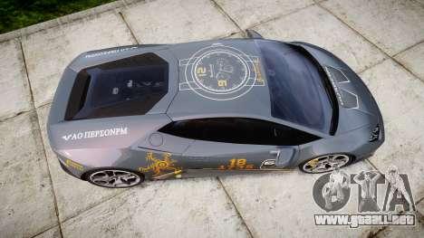 Lamborghini Huracan LP 610-4 2015 Blancpain para GTA 4 visión correcta