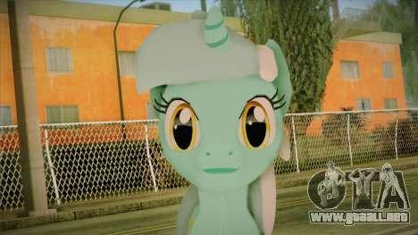 Lyra from My Little Pony para GTA San Andreas tercera pantalla