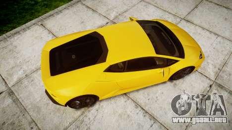 Lamborghini Huracan LP610-4 para GTA 4 visión correcta