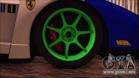 Ferrari Enzo Whirlwind Assault para GTA San Andreas vista posterior izquierda