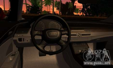 Audi S8 para GTA San Andreas vista posterior izquierda