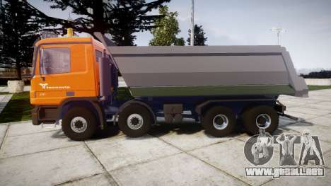 Mercedes-Benz Actros tecnovia para GTA 4 left