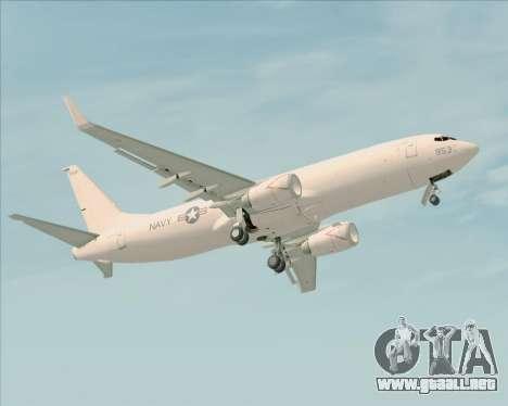 Boeing P-8 Poseidon US Navy para vista inferior GTA San Andreas