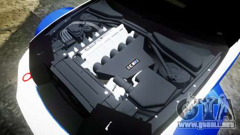 BMW M3 E46 GTR Most Wanted plate NFS MW para GTA 4 vista lateral