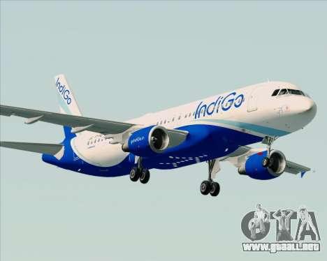 Airbus A320-200 IndiGo para la visión correcta GTA San Andreas