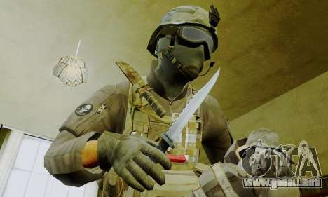Spec Ops para GTA San Andreas quinta pantalla