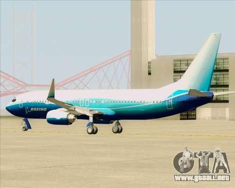 Boeing 737-800 House Colors para GTA San Andreas vista hacia atrás