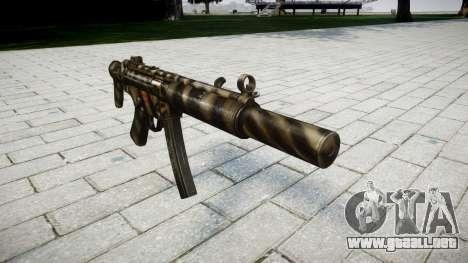 Pistola de MP5SD NA CS para GTA 4