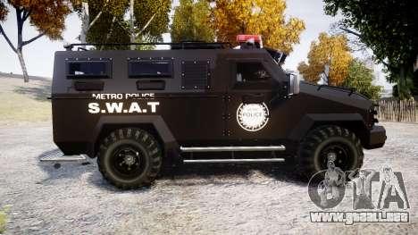SWAT Van Metro Police [ELS] para GTA 4 left