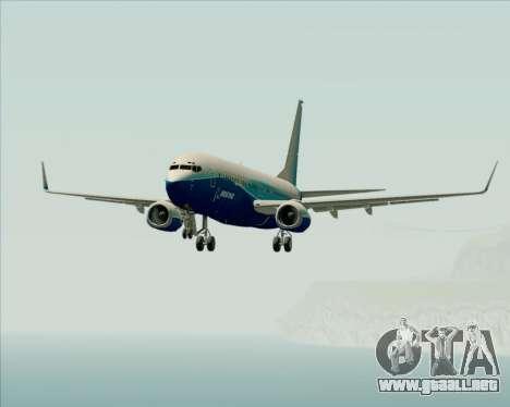 Boeing 737-800 House Colors para vista inferior GTA San Andreas