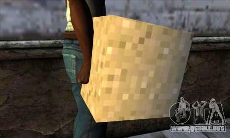 Bloque (Minecraft) v6 para GTA San Andreas tercera pantalla