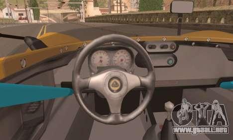 Lotus 2 Eleven (211) para GTA San Andreas vista posterior izquierda