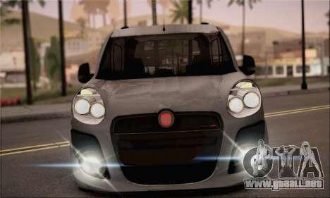 Fiat Doblo 2010 para GTA San Andreas vista posterior izquierda