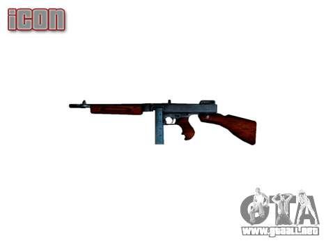 Subametralladora Thompson M1A1 cuadro icon2 para GTA 4 tercera pantalla