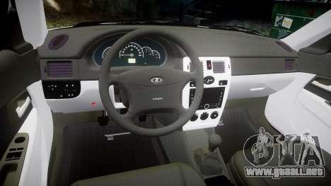 ВАЗ-2170 de alta calidad para GTA 4 vista interior