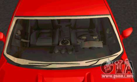 Nissan 350Z Tune para GTA San Andreas vista hacia atrás
