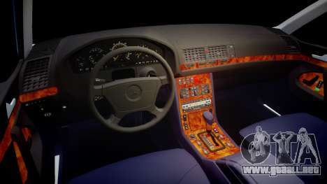 Mercedes-Benz 600SEL W140 para GTA 4 vista hacia atrás