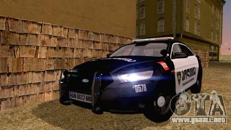 Ford Taurus 2013 Georgia Police Car para GTA San Andreas
