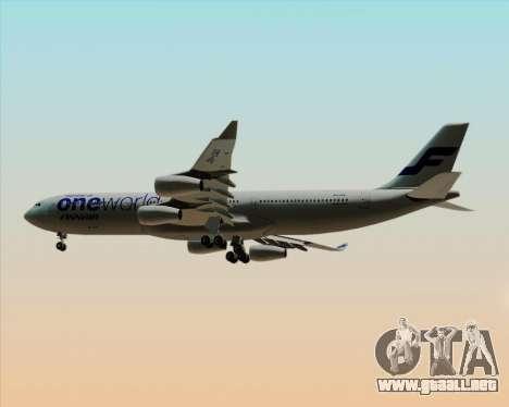 Airbus A340-300 Finnair (Oneworld Livery) para la visión correcta GTA San Andreas