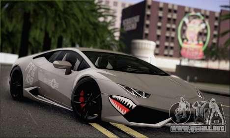 Lamborghini Huracan LP610-4 2015 para visión interna GTA San Andreas