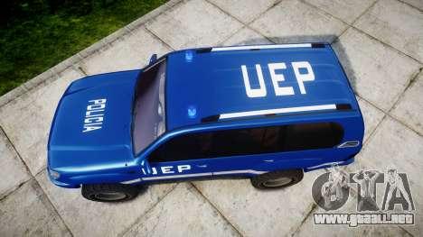 Toyota Land Cruiser 100 UEP blue [ELS] para GTA 4 visión correcta