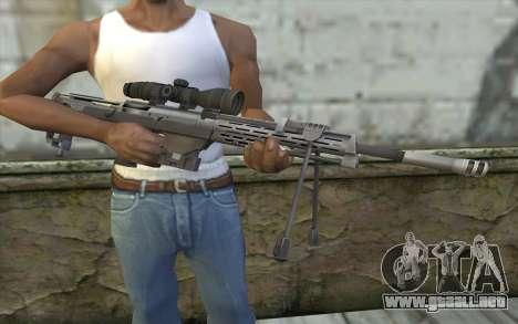 Sniper Rifle from Sniper Ghost Warrior para GTA San Andreas tercera pantalla
