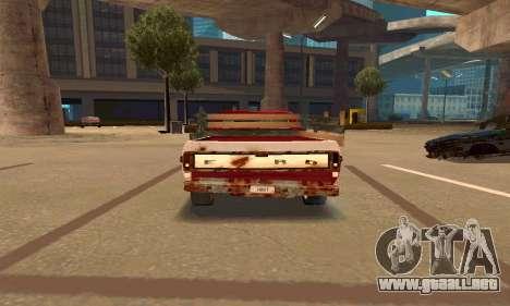 Ford PickUp Rusted para la visión correcta GTA San Andreas