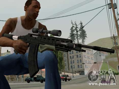 Heavy Sniper Rifle from GTA V para GTA San Andreas segunda pantalla