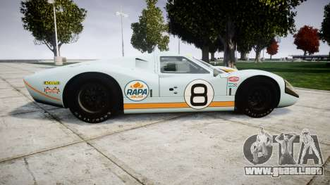 Ford GT40 Mark IV 1967 PJ RAPA olio 8 para GTA 4 left