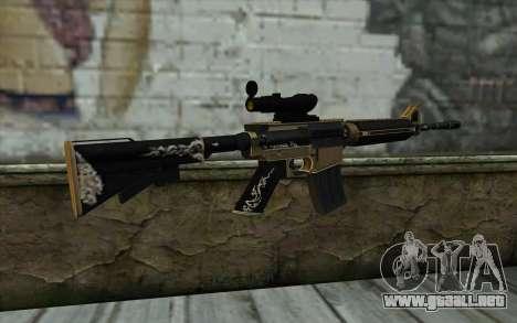 M4A1 from PointBlank para GTA San Andreas segunda pantalla