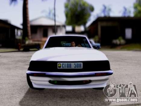 Lampadati Pigalle GTA V para GTA San Andreas vista posterior izquierda