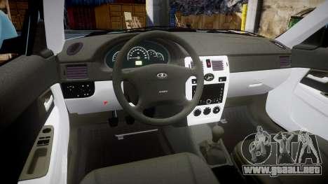 ВАЗ-Lada 2170 Priora Sapara para GTA 4 vista hacia atrás