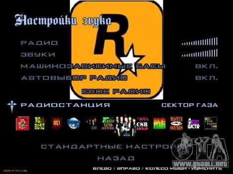 Grupo de Radio de Gaza para GTA San Andreas segunda pantalla