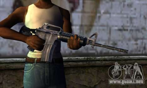 M4 from Far Cry para GTA San Andreas tercera pantalla