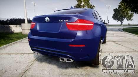 BMW X6M rims1 para GTA 4 Vista posterior izquierda