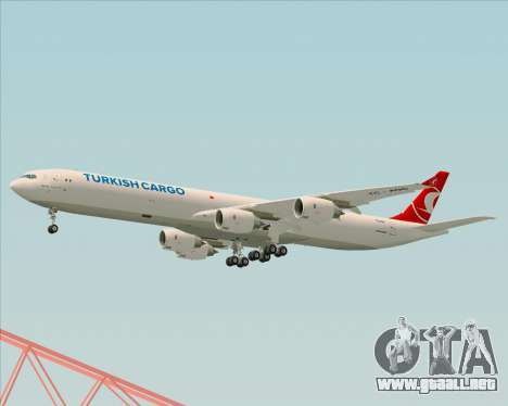 Airbus A340-600 Turkish Cargo para la visión correcta GTA San Andreas