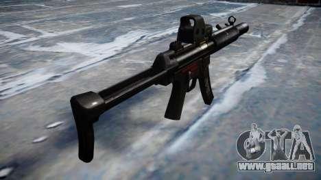 Pistola de MP5SD EOTHS FS b de destino para GTA 4 segundos de pantalla