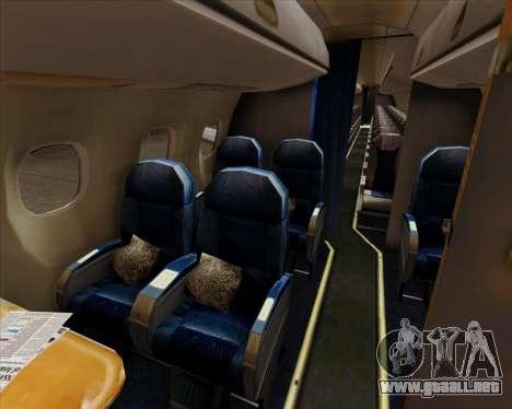Embraer E-190 Air Canada para las ruedas de GTA San Andreas
