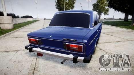 VAZ-2106 en el pneuma para GTA 4 Vista posterior izquierda