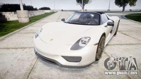 Porsche 918 Spyder 2014 para GTA 4