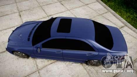 Mercedes-Benz W220 S65 AMG para GTA 4 visión correcta