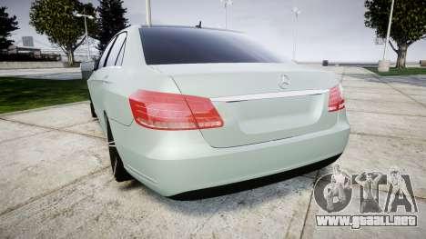 Mercedes-Benz E200 Vossen VVS CV5 para GTA 4 Vista posterior izquierda