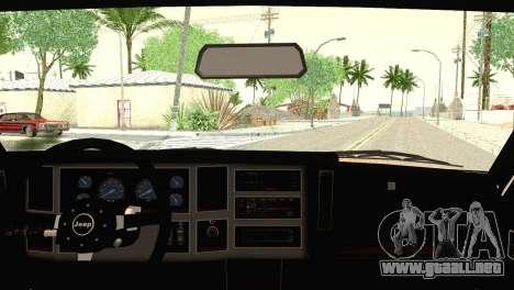 Jeep Cherokee para GTA San Andreas vista posterior izquierda